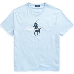 Ralph Lauren Classic Fit Big Pony Logo Jersey T-Shirt in Elite Blue - Size M found on Bargain Bro India from Ralph Lauren for $55.00