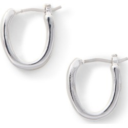 Ralph Lauren Oval Hoop Earring in Silver - Size One Size found on Bargain Bro from Ralph Lauren for USD $18.24
