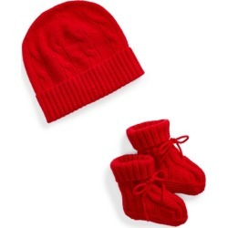 Ralph Lauren Cashmere Hat & Booties in RL 2000 Red - Size 0-3M found on Bargain Bro Philippines from Ralph Lauren for $95.00