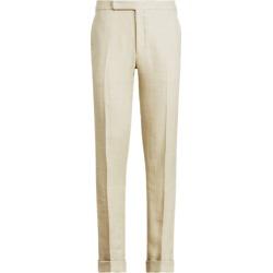 Ralph Lauren Gregory Silk-Linen Herringbone Trouser in Cream - Size 34 found on Bargain Bro from Ralph Lauren for USD $452.20