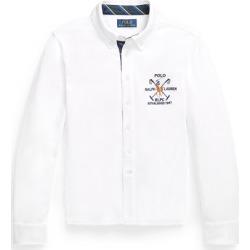 Ralph Lauren Cotton Interlock Shirt in White - Size S found on Bargain Bro from Ralph Lauren for USD $22.03