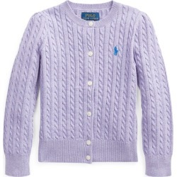 Ralph Lauren Cable-Knit Cotton Cardigan in Wisteria Heather - Size 3T found on Bargain Bro India from Ralph Lauren for $23.99