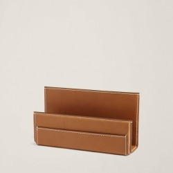Ralph Lauren Brennan Leather Letter Rack in Saddle - Size One Size