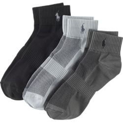 Ralph Lauren Sport Ankle Sock 3-Pack in Grey Assorted - Size One Size found on Bargain Bro India from Ralph Lauren for $20.00