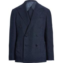 Ralph Lauren Kent Handmade Linen-Silk Suit Jacket in Dark Navy - Size 42 found on Bargain Bro from Ralph Lauren for USD $4,176.20