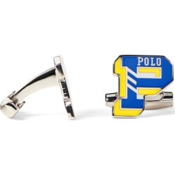 Ralph Lauren P Enamel Cuff Links in Saphire Star/ Yellow - Size One Size found on Bargain Bro from Ralph Lauren for USD $51.67