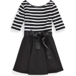 Ralph Lauren Striped Ponte Dress in Polo Black/White - Size 3T found on Bargain Bro India from Ralph Lauren for $29.99