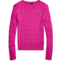 Ralph Lauren Cable-Knit Cotton Sweater in Sport Pink - Size M found on Bargain Bro from Ralph Lauren for USD $97.28