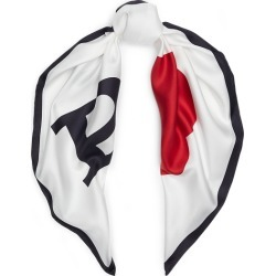 Ralph Lauren Polo Graphic Silk Scarf in White - Size One Size