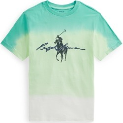 Ralph Lauren Big Pony Logo Dip-Dyed Cotton Tee in White Dip Dye Multi - Size S found on Bargain Bro India from Ralph Lauren for $35.00