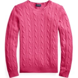 Ralph Lauren Cable-Knit Cashmere Sweater in Exotic Pink - Size XL found on Bargain Bro from Ralph Lauren for USD $302.48