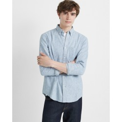 Club Monaco Blue And White Slim Jaspé Shirt in Size S found on Bargain Bro India from Club Monaco for $46.99