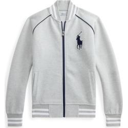 Ralph Lauren Big Pony Double-Knit Baseball Jacket in Andover Heather - Size M found on Bargain Bro India from Ralph Lauren for $125.00