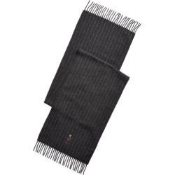 Ralph Lauren Polo Bear Chalk-Stripe Scarf in Charcoal/Lt Grey Hthr - Size One Size