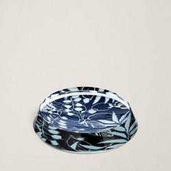 Ralph Lauren Lydia Round Trinket Tray in Navy/White - Size One Size