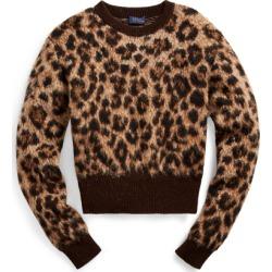 Ralph Lauren Leopard-Print Wool Sweater in Leopard - Size M