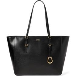 Ralph Lauren Saffiano Leather Shopper in Black - Size One Size