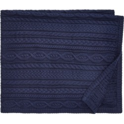 Ralph Lauren Aran-Knit Cotton Blanket in Cruise Navy - Size One Size found on Bargain Bro India from Ralph Lauren for $100.00