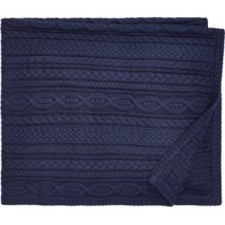 Ralph Lauren Aran-Knit Cotton Blanket in Cruise Navy - Size One Size found on Bargain Bro Philippines from Ralph Lauren for $100.00