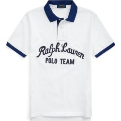 Ralph Lauren Polo Team Cotton Mesh Polo Shirt in White Multi - Size L found on Bargain Bro from Ralph Lauren for USD $26.59