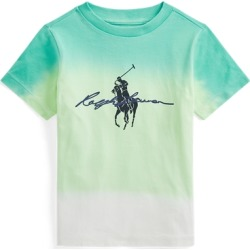 Ralph Lauren Big Pony Logo Dip-Dyed Cotton Tee in White Dip Dye Multi - Size 5 found on Bargain Bro India from Ralph Lauren for $29.50