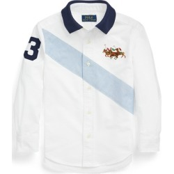 Ralph Lauren Cotton Oxford Polo-Collar Shirt in Bsr White - Size 3T found on Bargain Bro from Ralph Lauren for USD $27.35