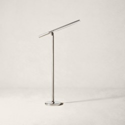 Ralph Lauren Barrett LED Boom Floor Lamp in Polished Nickel - Size One Size found on Bargain Bro Philippines from Ralph Lauren for $1999.00