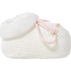 Ralph Lauren Rosette Cotton-Blend Booties in White - Size 0-3M found on Bargain Bro Philippines from Ralph Lauren for $40.00
