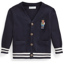 Ralph Lauren Polo Bear Cotton Cardigan in RL Navy - Size 9M found on Bargain Bro from Ralph Lauren for USD $45.59