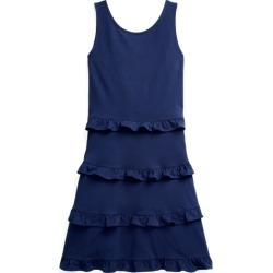 Ralph Lauren Ruffled Cotton Jersey Dress in French Navy - Size S found on Bargain Bro India from Ralph Lauren for $69.50