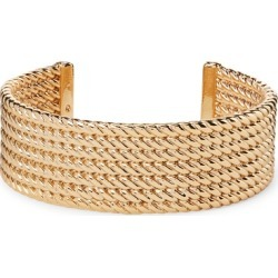 Ralph Lauren Gold-Tone Rope Cuff Bracelet in Gold - Size One Size found on Bargain Bro from Ralph Lauren for USD $59.28
