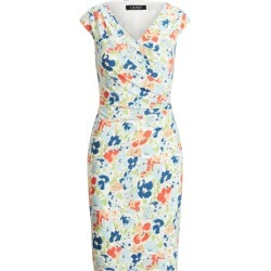 Ralph Lauren Floral Pleated Jersey Dress in Cream/Blue/Multi found on Bargain Bro India from Ralph Lauren for $109.00