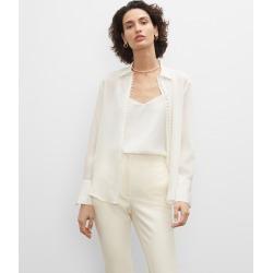 Club Monaco Blanc De Blanc Helek Silk Shirt in Size XXS