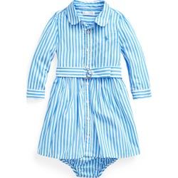 Ralph Lauren Shirtdress, Belt & Bloomer in Blue Multi - Size 24M found on Bargain Bro from Ralph Lauren for USD $37.62