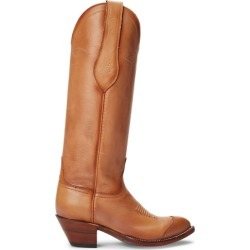Ralph Lauren Kiera Leather Cowboy Boot in Tan - Size 7.5 found on Bargain Bro from Ralph Lauren for USD $758.48
