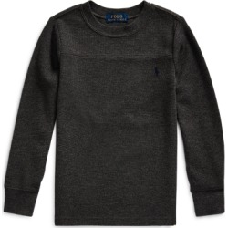 Ralph Lauren Waffle-Knit Cotton-Blend Tee in Windsor Heather - Size 7 found on Bargain Bro India from Ralph Lauren for $17.99