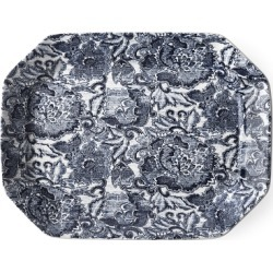 Ralph Lauren Faded Peony Large Tray in Indigo - Size Large