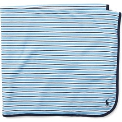 Ralph Lauren Striped Cotton Blanket in Suffield Blue Multi - Size One Size found on Bargain Bro India from Ralph Lauren for $39.50