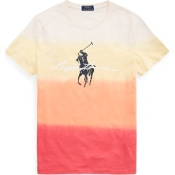 Ralph Lauren Custom Slim Fit Dip-Dyed Graphic T-Shirt in Classic Peach Dip Dye Mul - Size XL found on Bargain Bro Philippines from Ralph Lauren for $69.50