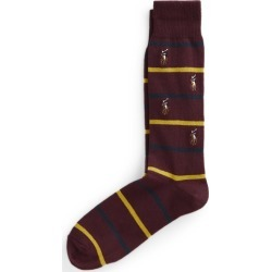 Ralph Lauren Striped Pony Crew Socks in Wine - Size One Size found on Bargain Bro Philippines from Ralph Lauren for $9.99