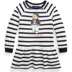 Ralph Lauren Polo Bear Cotton Fleece Dress in Navy Multi - Size 6 found on Bargain Bro from Ralph Lauren for USD $18.23