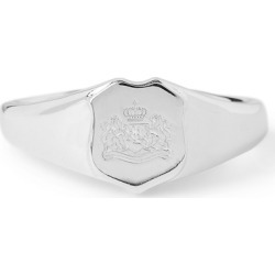 Ralph Lauren Sterling Silver Crest Ring in Silver - Size One Size found on Bargain Bro from Ralph Lauren for USD $51.68