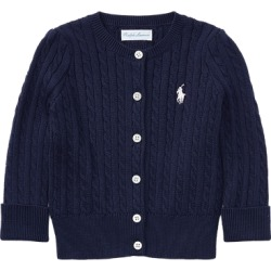 Ralph Lauren Cable-Knit Cotton Cardigan in Navy - Size 18M found on Bargain Bro from Ralph Lauren for USD $30.02