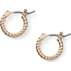 Ralph Lauren Gold-Tone Rope Huggie Earrings in Gold - Size One Size found on Bargain Bro from Ralph Lauren for USD $19.00