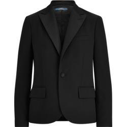 Ralph Lauren Silk-Trim Wool Blazer in Polo Black