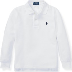 Ralph Lauren Cotton Mesh Polo Shirt in White - Size 6 found on Bargain Bro India from Ralph Lauren for $17.99