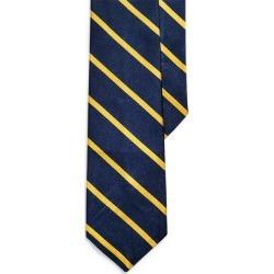 Ralph Lauren Striped Silk Repp Narrow Tie in Navy/Gold - Size One Size found on Bargain Bro from Ralph Lauren for USD $95.00