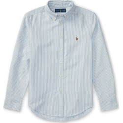 Ralph Lauren Striped Cotton Oxford Shirt in Light Blue Stripe - Size M found on Bargain Bro from Ralph Lauren for USD $37.62
