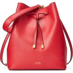 Ralph Lauren Leather Debby Drawstring Bag in Red - Size One Size found on Bargain Bro from Ralph Lauren for USD $150.48