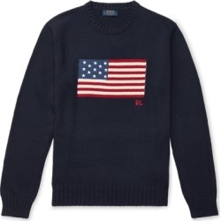 Ralph Lauren The Iconic Flag Sweater in Navy - Size 4XL Tall found on Bargain Bro from Ralph Lauren for USD $226.48